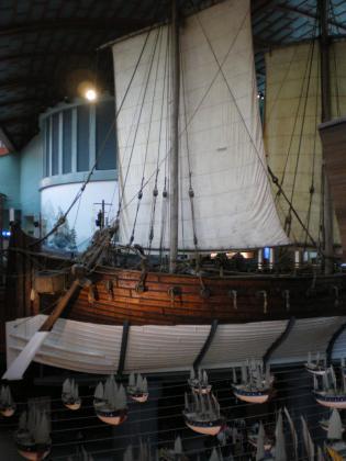 シンガポール2013.3マリタイムミュージアム展示の船