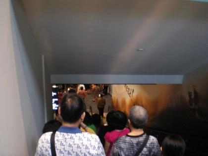 シンガポール2013.3マリタイムミュージアムエスカレータ