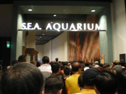 シンガポール2013.3アクアリウム入場行列