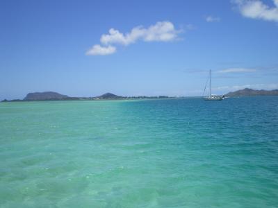 ハワイ2012.7サンドバー海面②