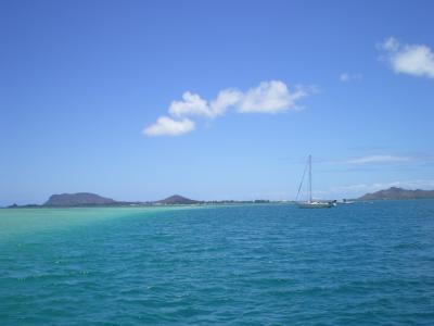 ハワイ2012.7サンドバー海面③