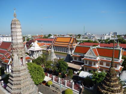 バンコク2013.5暁の寺大仏塔塔上からの眺め
