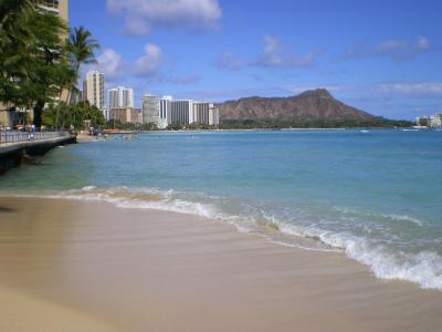 ハワイ2012.7ワイキキビーチからダイヤモンドヘッド