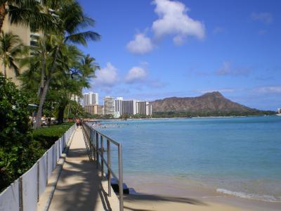 ハワイ2012.7ハレクラニ前からダイヤモンドヘッド