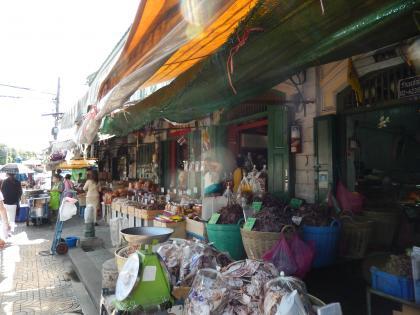 バンコク2013.5暁の寺渡し船前商店