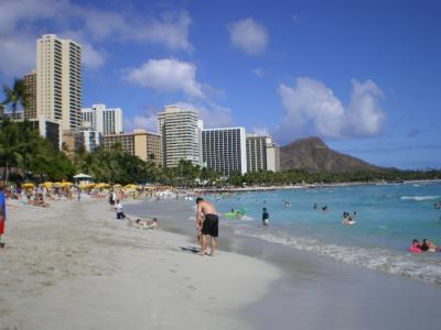 ハワイ2012.7ワイキキビーチとホテル群