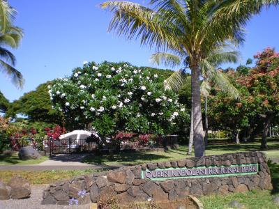ハワイ2012.7カピオラニパーク入口