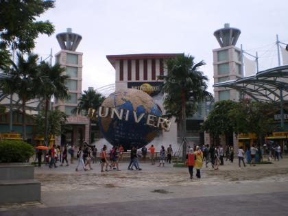 シンガポール2013.3ユニバーサルスタジオ前