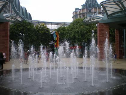 シンガポール2013.3セントーサ島プルリンク噴水2