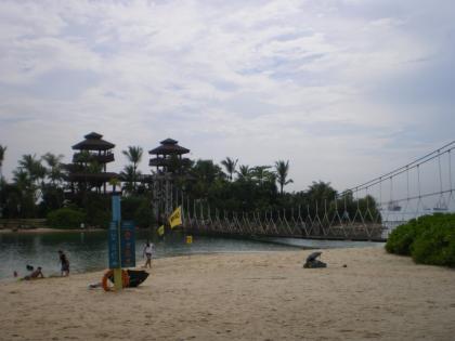 シンガポール2013.3セントーサ島最南端つり橋