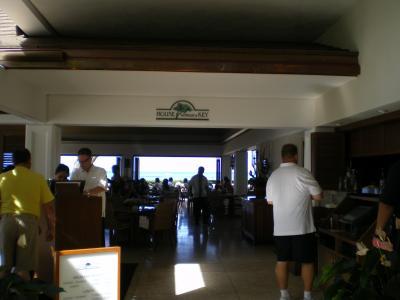 ハワイ2012.7ハレクラニレストラン入口①