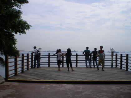 シンガポール2013.3セントーサ島アジア最南端テラス