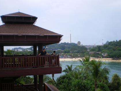 シンガポール2013.3セントーサ島アジア最南端展望台