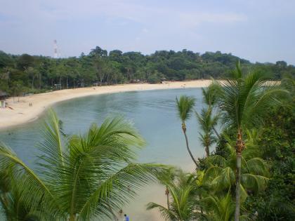 シンガポール2013.3セントーサ島アジア最南端展望台からの眺望2