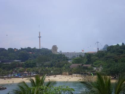 シンガポール2013.3セントーサ島アジア最南端展望台からの眺望3