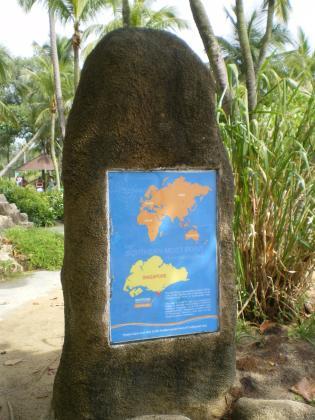 シンガポール2013.3セントーサ島アジア最南端碑