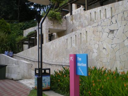 シンガポール2013.3セントーサ島マーライオン裏口