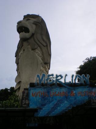 シンガポール2013.3セントーサ島マーライオン