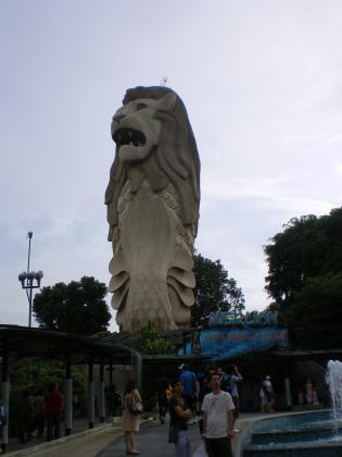 シンガポール2013.3セントーサ島マーライオン2