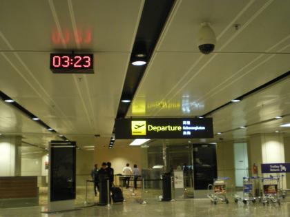 シンガポール2013.3チャンギ空港出発口