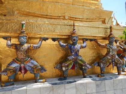 バンコク2013.5エメラルド寺院鬼像