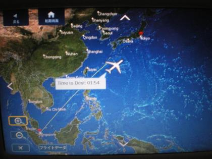 シンガポール2013.3デルタ航空622便モニター
