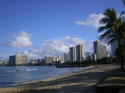 ハワイ2012.7・6日目朝のワイキキ