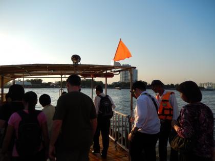 バンコク2013.5チャオプラヤエキスプレス乗船