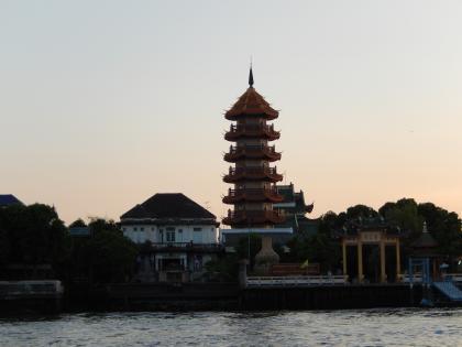バンコク2013.5チャオプラヤ河岸寺院