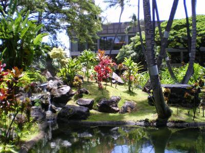 ハワイ2012.7・帰国(空港中庭)