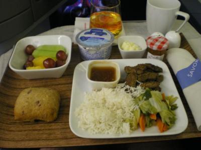 ハワイ2012.7帰国(機内食④)
