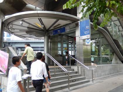 バンコク2013.5地下鉄駅入口