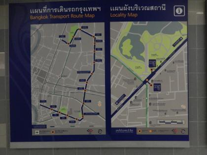 バンコク2013.5地下鉄路線図