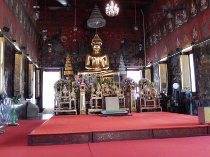 バンコク2013.5黄金の丘寺院本尊