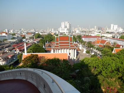 バンコク2013.5黄金の丘寺院丘頂上1