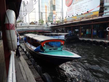 バンコク2013.5運河ボート下船場1