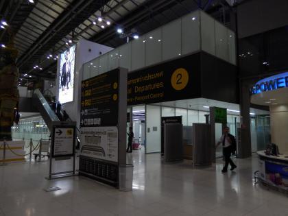 バンコク2013.5空港出発口