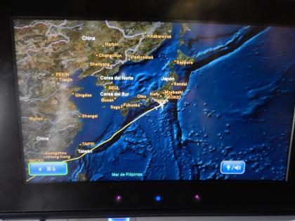 バンコク2013.5デルタ航空バンコク成田ルートマップ