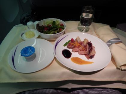 ハワイ2013.7チャイナエアビジネス機内食前菜