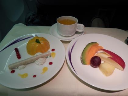 ハワイ2013.7チャイナエアビジネス機内食デザート