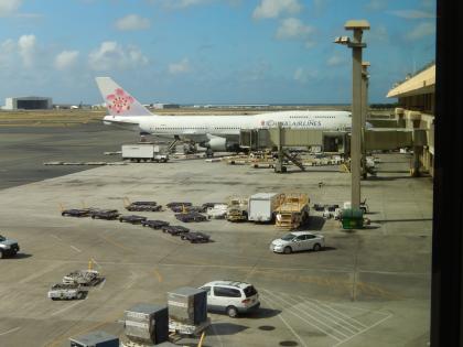 ハワイ2013.7ホノルルに到着したチャイナエア