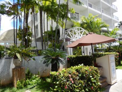 ハワイ2013.7ホテルジョイ入口