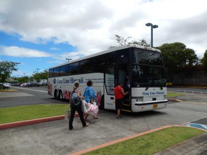 ハワイ2013.7ワイケレシャトルバス