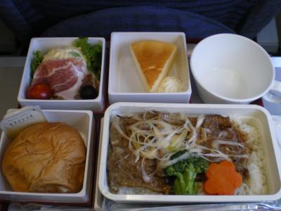 台湾2012.8往路中華航空機内食