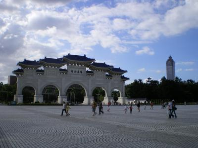 中正紀念堂正門裏と台北101