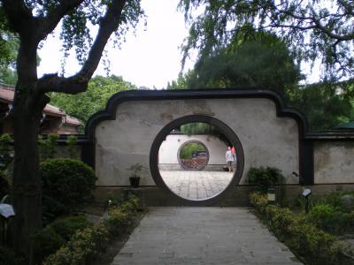 台湾2012.8林家庭園定観堂前