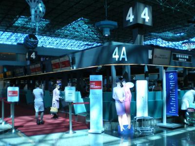 台湾2012.8桃園空港チェックインカウンター