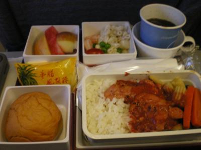 台湾2012.8中華航空成田行機内食