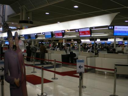香港2012.12中華航空カウンター