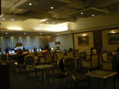 香港2012.12台北乗継モアラウンジ室内